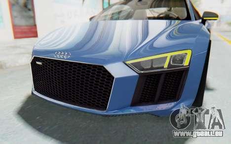 Audi R8 2017 pour GTA San Andreas vue de dessus
