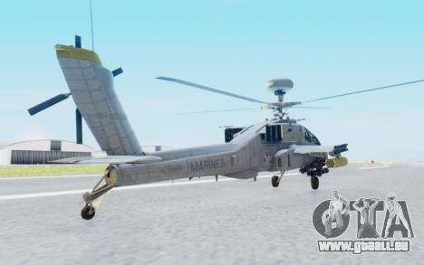 AH-64 Apache Marines pour GTA San Andreas laissé vue