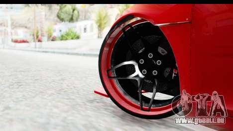 Audi R8 5.2 V10 Plus LB Walk für GTA San Andreas zurück linke Ansicht