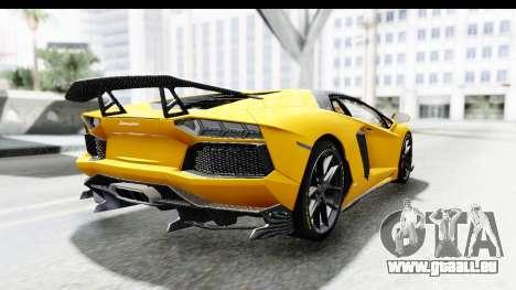 Lamborghini Aventador LP700-4 LB Walk pour GTA San Andreas laissé vue