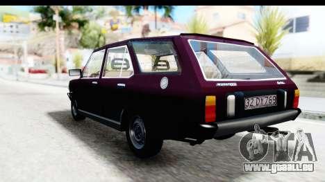 Murat 131 Kartal pour GTA San Andreas sur la vue arrière gauche
