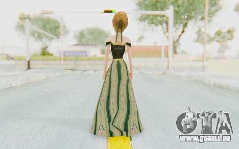 Frozen - Anna Coronation Dress pour GTA San Andreas troisième écran