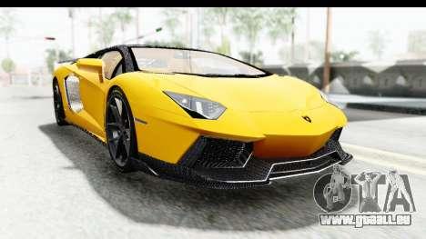 Lamborghini Aventador LP700-4 LB Walk pour GTA San Andreas vue arrière