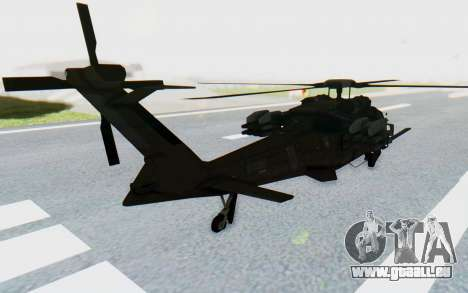 MGSV Phantom Pain UTH-66 Blackfoot pour GTA San Andreas laissé vue