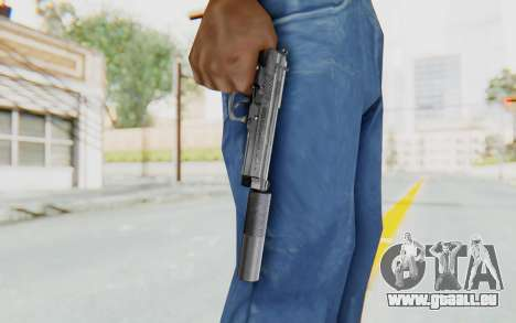 Tariq Iraqi Pistol Back v1 Silver Silenced pour GTA San Andreas troisième écran