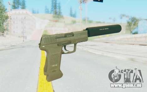 HK45 Silenced pour GTA San Andreas troisième écran