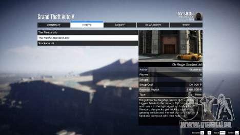 GTA 5 Heist Project 0.4.32.678 neunter Screenshot