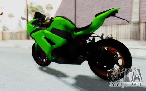 Kawasaki Ninja 250 Abs Streetrace pour GTA San Andreas sur la vue arrière gauche