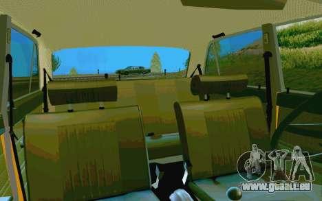 HUNTER-2106 GAI v2.0 pour GTA San Andreas vue de dessus