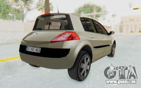 Renault Megane 2 pour GTA San Andreas laissé vue