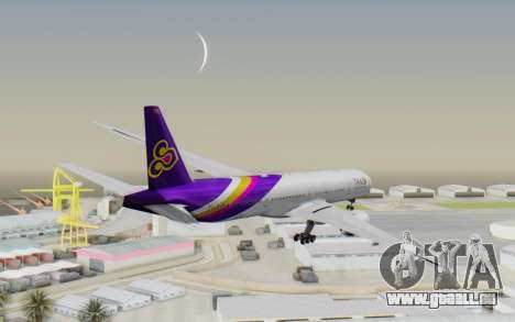 Boeing 777-300ER Thai International Airways für GTA San Andreas rechten Ansicht