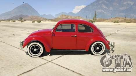GTA 5 1963 Volkswagen Beetle 1.0.1 linke Seitenansicht