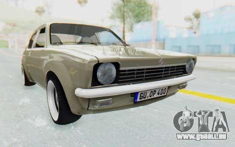 Opel Kadett C Coupe pour GTA San Andreas vue de droite