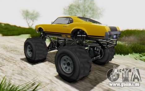 Declasse Sabre Turbo XL pour GTA San Andreas laissé vue