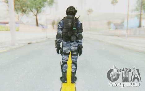 Federation Elite Shotgun Urban-Navy pour GTA San Andreas troisième écran