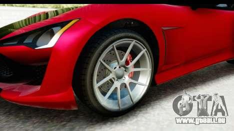 GTA 5 Lampadati Furore GT IVF für GTA San Andreas Rückansicht