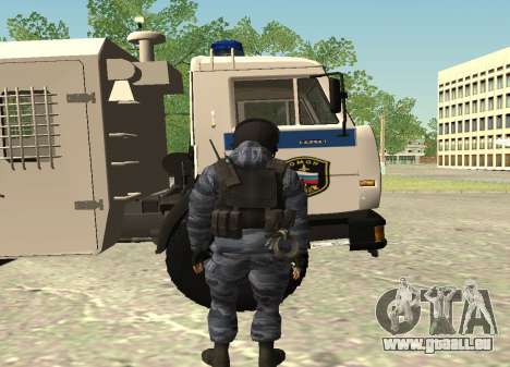 La police anti-émeute-Berkut (Russie) pour GTA San Andreas deuxième écran
