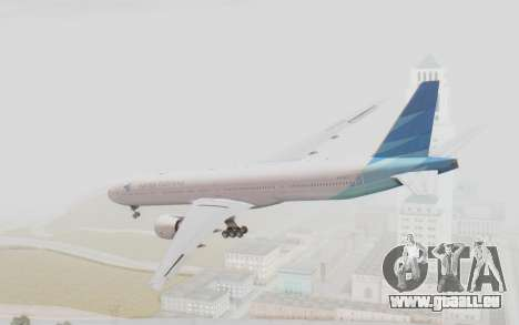 Boeing 777-300ER Garuda Indonesia für GTA San Andreas linke Ansicht