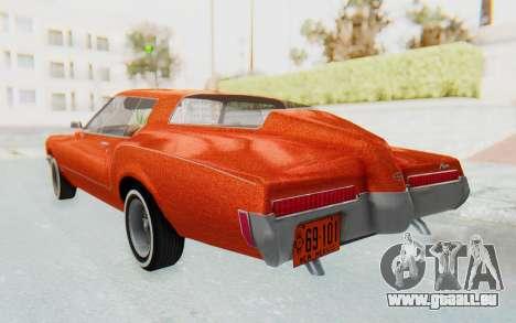 Buick Riviera 1972 Boattail Lowrider für GTA San Andreas linke Ansicht