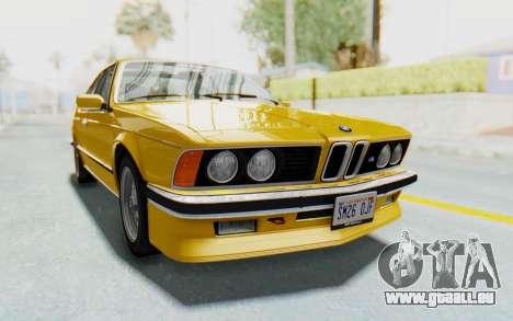 BMW M635 CSi (E24) 1984 HQLM PJ2 pour GTA San Andreas sur la vue arrière gauche