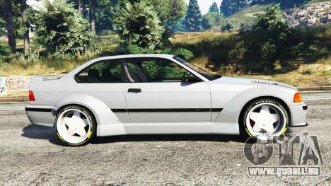 GTA 5 BMW M3 (E36) Street Custom vue latérale gauche