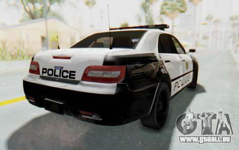 ASYM Desanne XT Pursuit v3 pour GTA San Andreas laissé vue