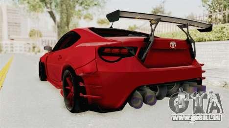 Toyota GT86 Drift Edition für GTA San Andreas linke Ansicht
