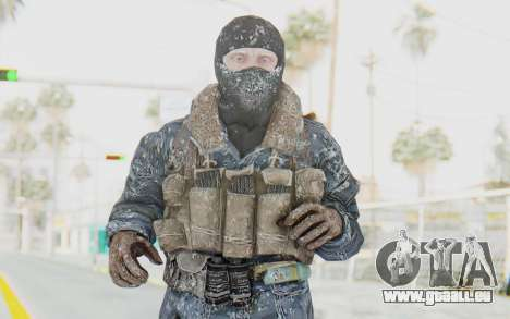 COD BO Russian Soldier Winter Balaclava pour GTA San Andreas