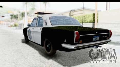 ГАЗ 24 la Police Highway Patrol pour GTA San Andreas laissé vue