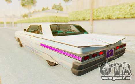 GTA 5 Declasse Voodoo Alternative v2 pour GTA San Andreas salon