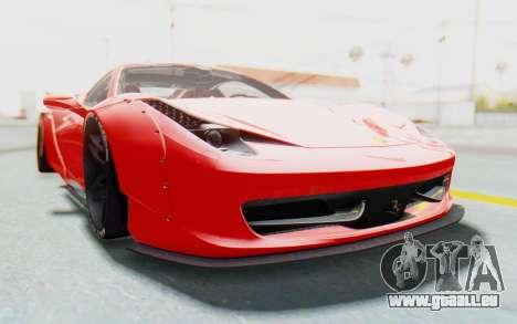 Ferrari 458 Liberty Walk pour GTA San Andreas vue intérieure