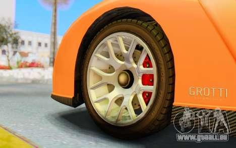 GTA 5 Grotti Cheetah IVF pour GTA San Andreas vue arrière