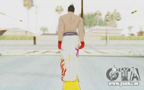 Kazuya Mishima Skin pour GTA San Andreas troisième écran