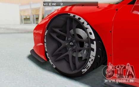 Ferrari 458 Liberty Walk für GTA San Andreas obere Ansicht