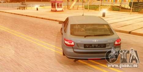 Lada Granta Liftback Beta v1 pour GTA San Andreas laissé vue