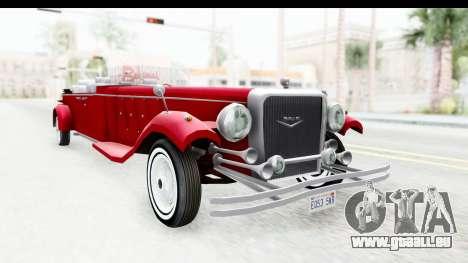 Unique V16 Phaeton pour GTA San Andreas vue de droite