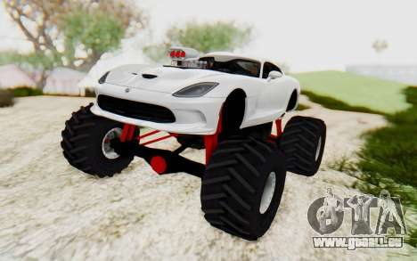 Dodge Viper SRT GTS 2012 Monster Truck pour GTA San Andreas