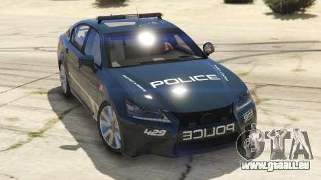 Lexus GS 350 Hot Pursuit Police pour GTA 5