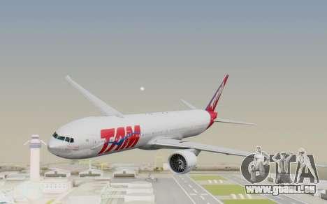 Boeing 777-300ER TAM linhas Aéreas für GTA San Andreas zurück linke Ansicht