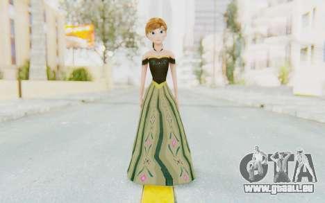 Frozen - Anna Coronation Dress pour GTA San Andreas deuxième écran