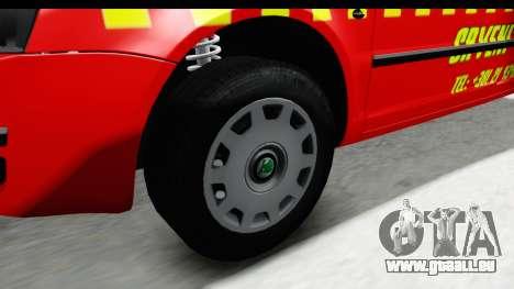 Skoda Superb Red Taxi für GTA San Andreas Rückansicht