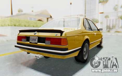 BMW M635 CSi (E24) 1984 HQLM PJ2 pour GTA San Andreas laissé vue