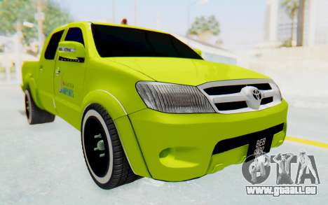 Toyota Hilux Malaysia Airports Green pour GTA San Andreas vue de droite