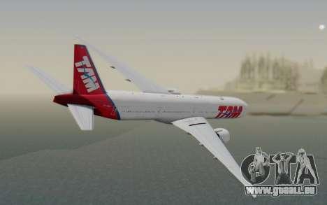 Boeing 777-300ER TAM linhas Aéreas für GTA San Andreas linke Ansicht