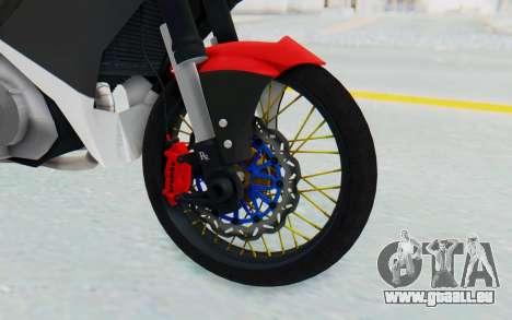 Yamaha Jupiter MX 135 Semi Roadrace für GTA San Andreas Rückansicht
