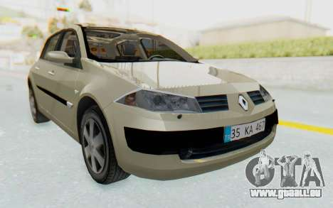 Renault Megane 2 pour GTA San Andreas sur la vue arrière gauche