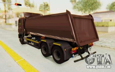MAN TGA Energrom Edition v2 pour GTA San Andreas sur la vue arrière gauche
