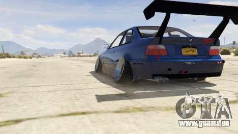 GTA 5 BMW M3 E36 DRIFTMISSILE arrière vue latérale gauche