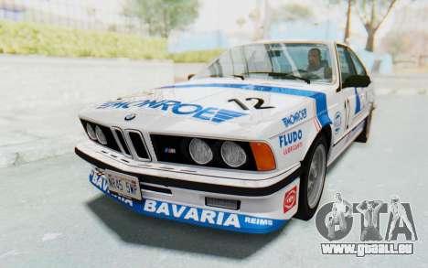 BMW M635 CSi (E24) 1984 HQLM PJ3 für GTA San Andreas obere Ansicht