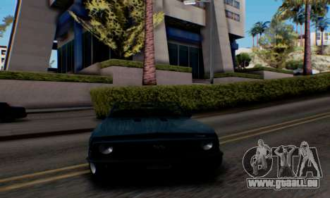 Chevrolet 369 Camaro SS pour GTA San Andreas sur la vue arrière gauche